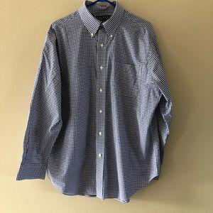 Ralph Lauren Blue & White Button Up Shirt 17 34/35